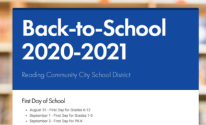 RCCSD back to school