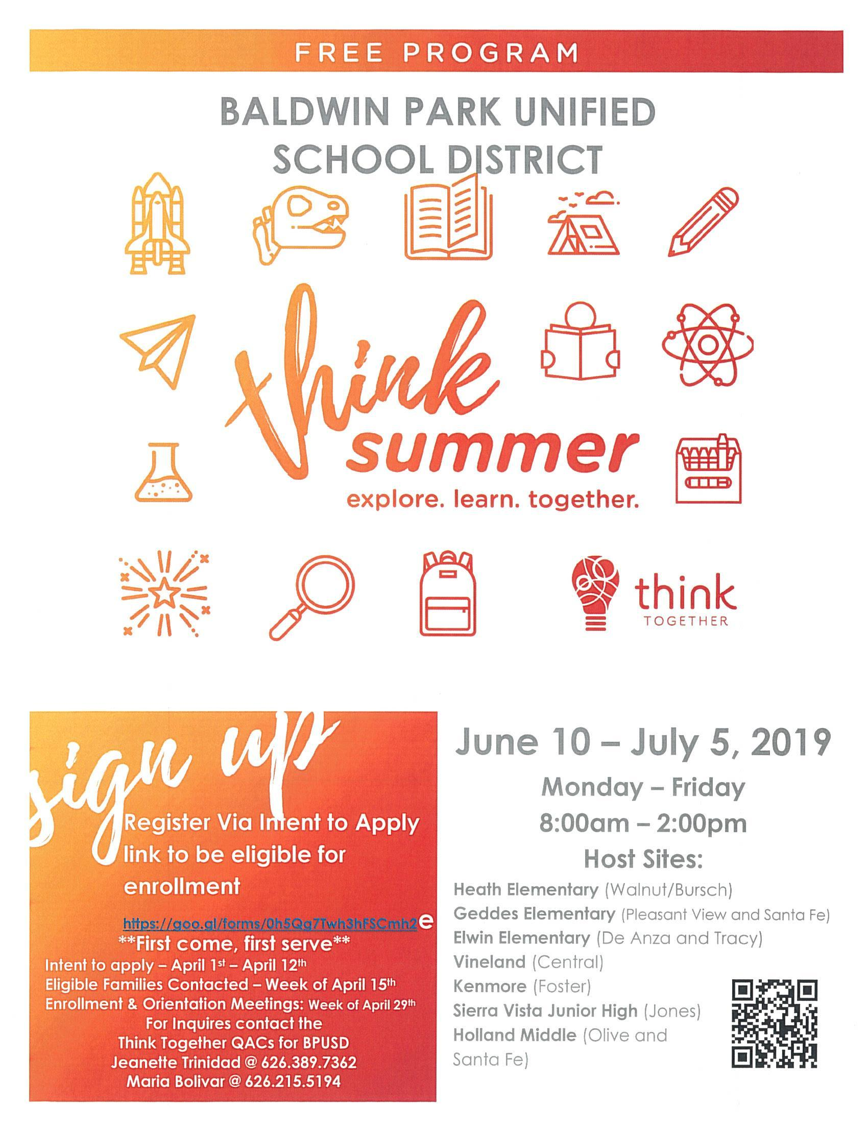 Think Together Summer Flyer