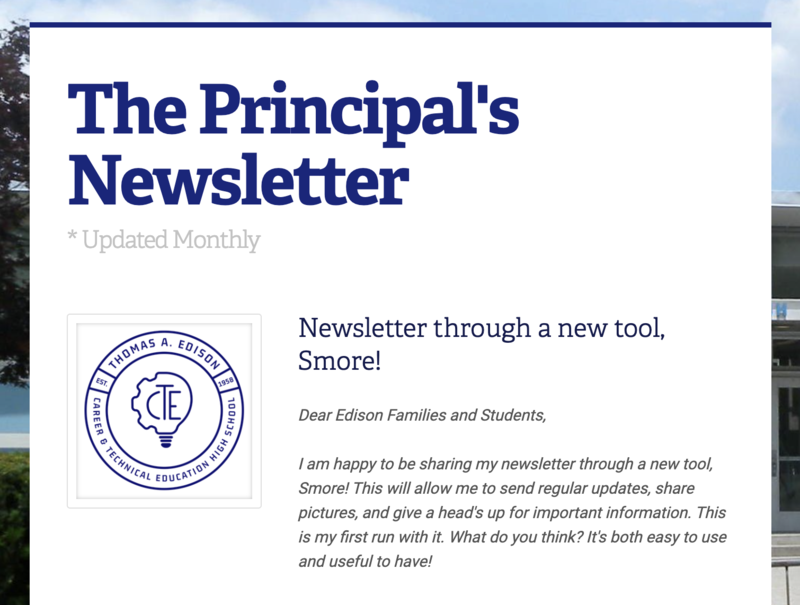 The Principal's Newsletter