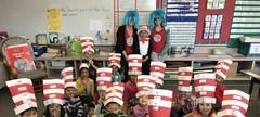 Read Across America - Thing 1 and Thing 2 visit Kindergarten