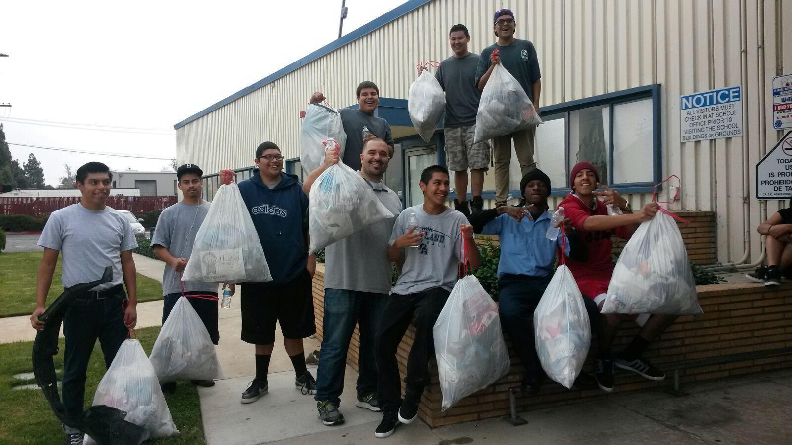 Pomona Recycling Students