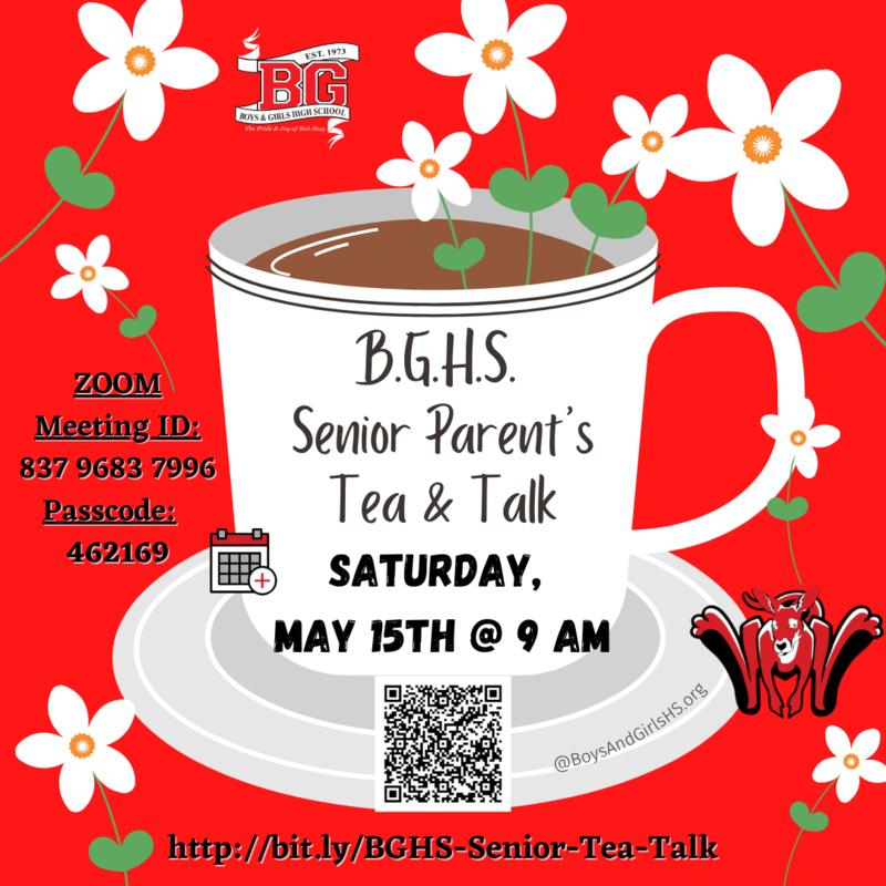 BGHS Senior Parent's Tea & Talk