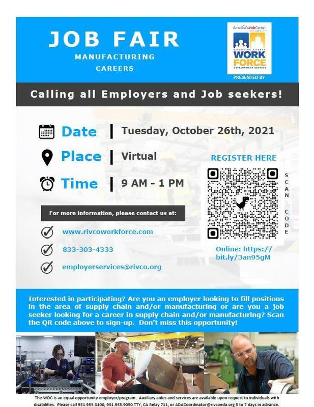 flyer for job fair- words with small pictures