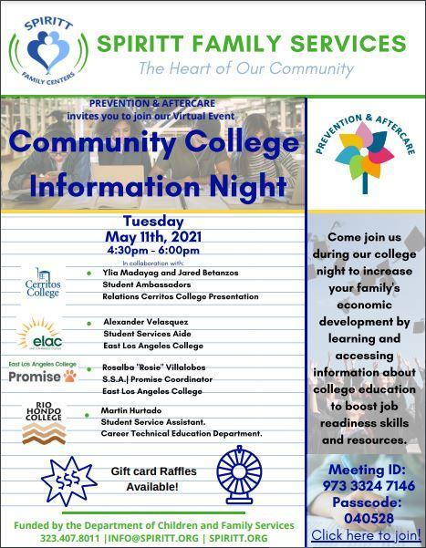 Community College Night