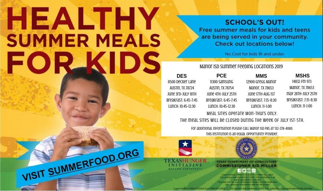 Summer Feeding Flyer