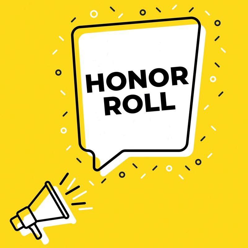 Megaphone and thought bubble reading, quote, Honor Roll