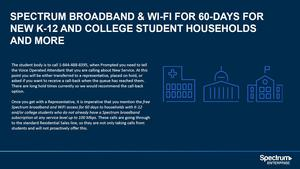 Charter offers free Spectrum Internet & WiFi for Students.