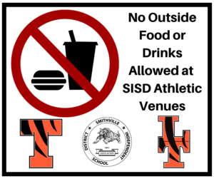 no food or drinks allowed sign