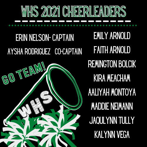 2021 WHS Cheerleaders, Congratulations! Featured Photo