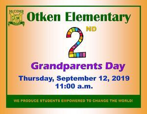 Otken Elementary 2nd Grade Grandparents Day News! #WeWantMore!