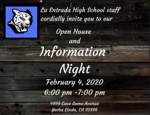 Open House & Info Night