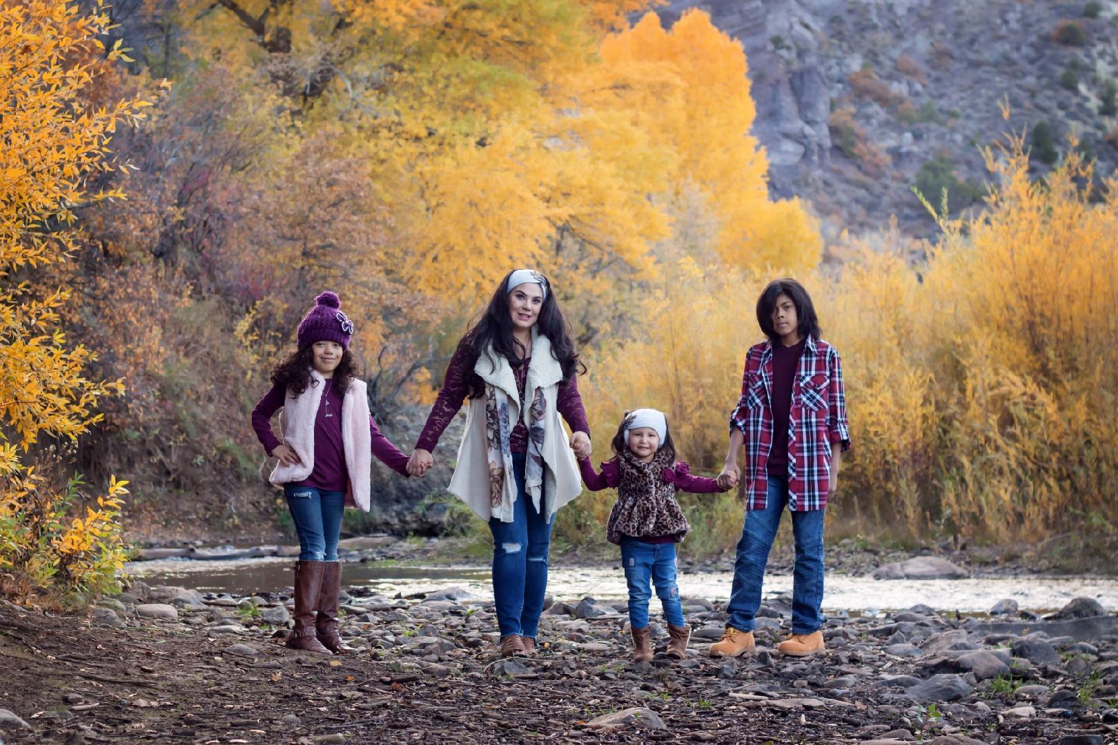Blackwood & her children in Durango