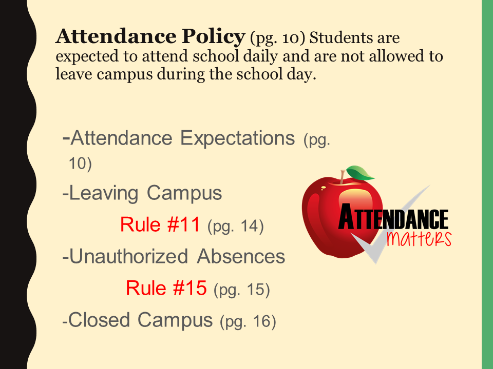 attendance policy power point slide