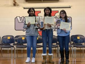 From left: Kayla Grant, Arielle Sherman, Alondra Roblero-Hernandez