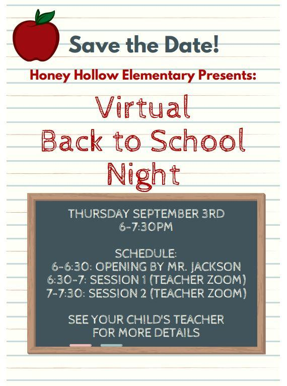 Back to School Night Information