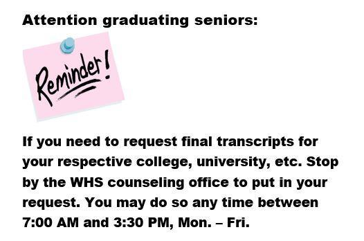Senior Transcript Request Info Featured Photo