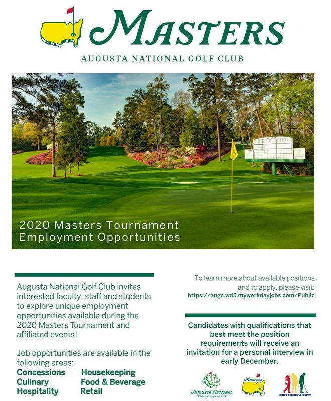 Masters 2020 Information Featured Photo