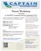 Parent Workshop Flyer: Autism