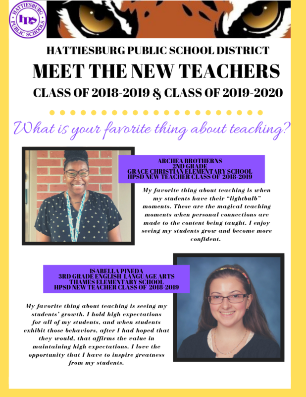 Meet the New Teachers of HPSD! Featured Photo