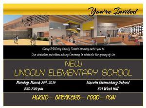 Lincoln Elem Invite