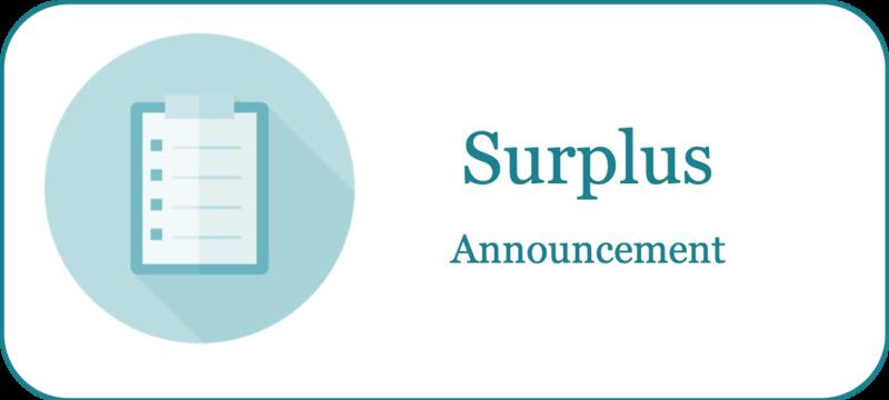 Surplus Announcement