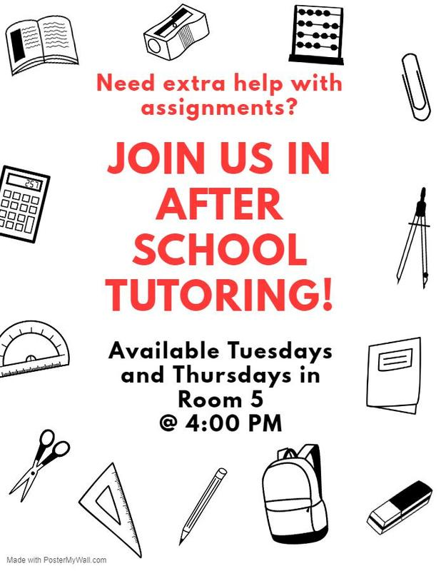 Tutoring Program available Featured Photo
