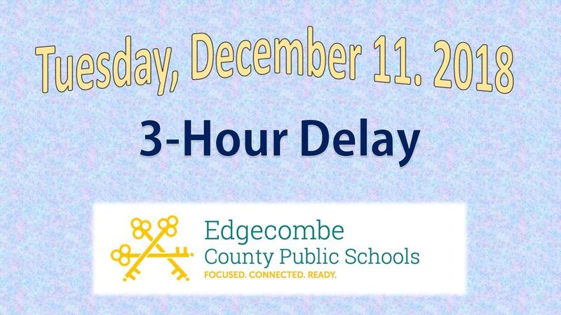 All ECPS Schools will operate on a 3 Hour Delay on Tuesday, December 11, 2018 Thumbnail Image