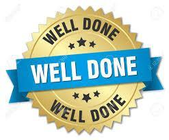 well done certificate sticker