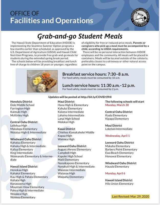 Grab and Go Meals at Hilo Union Elementary! Featured Photo