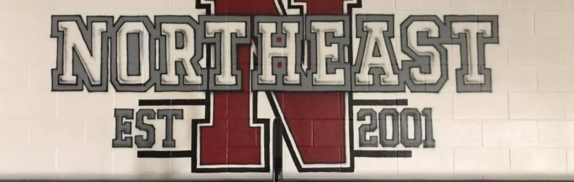 Gym painting of school name