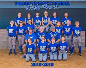 2018-2019 Blue Devils Softball Team Picture