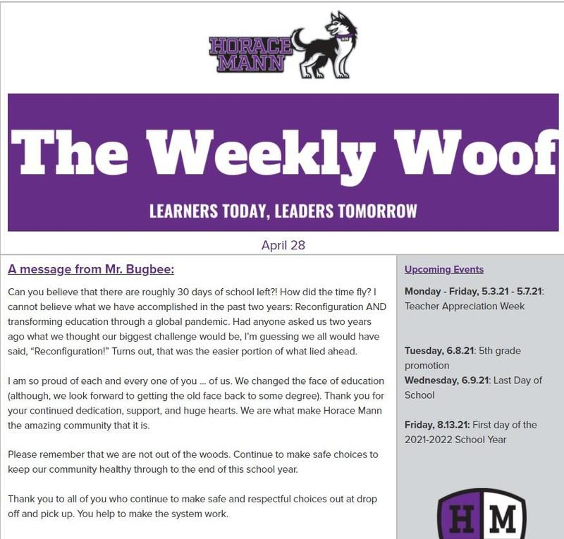 The Weekly Woof Newsletter for April 28, 2021 Featured Photo