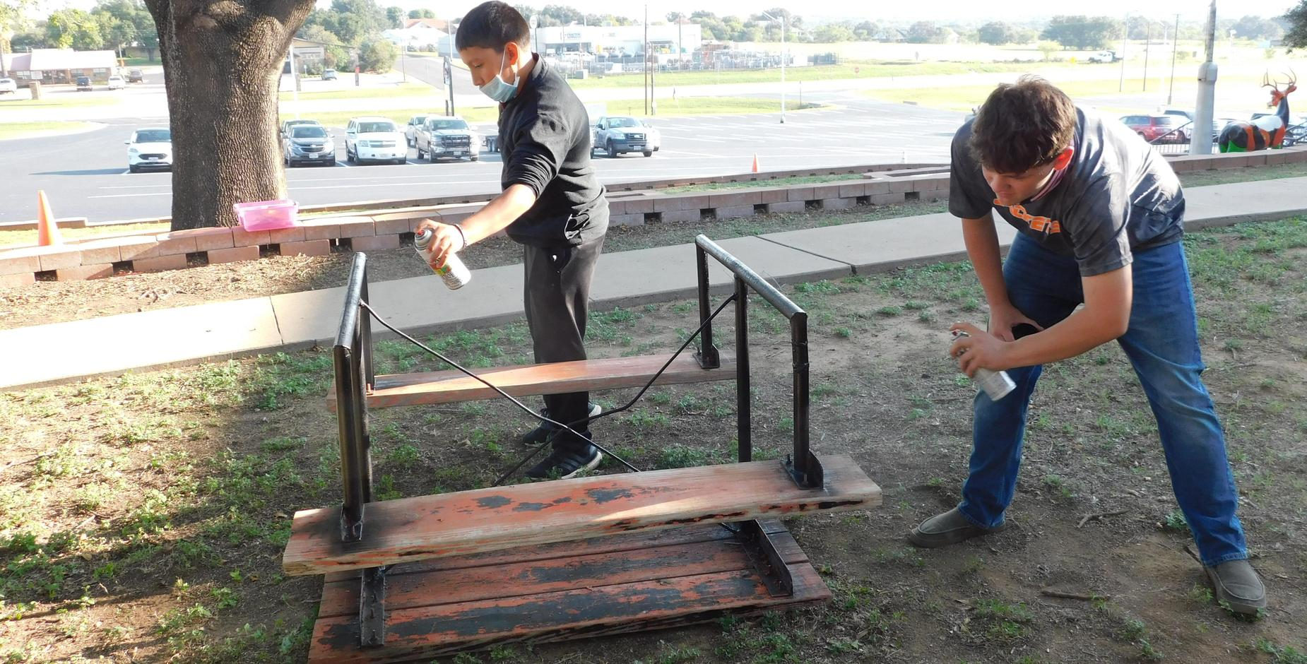 Painting Picnic Table