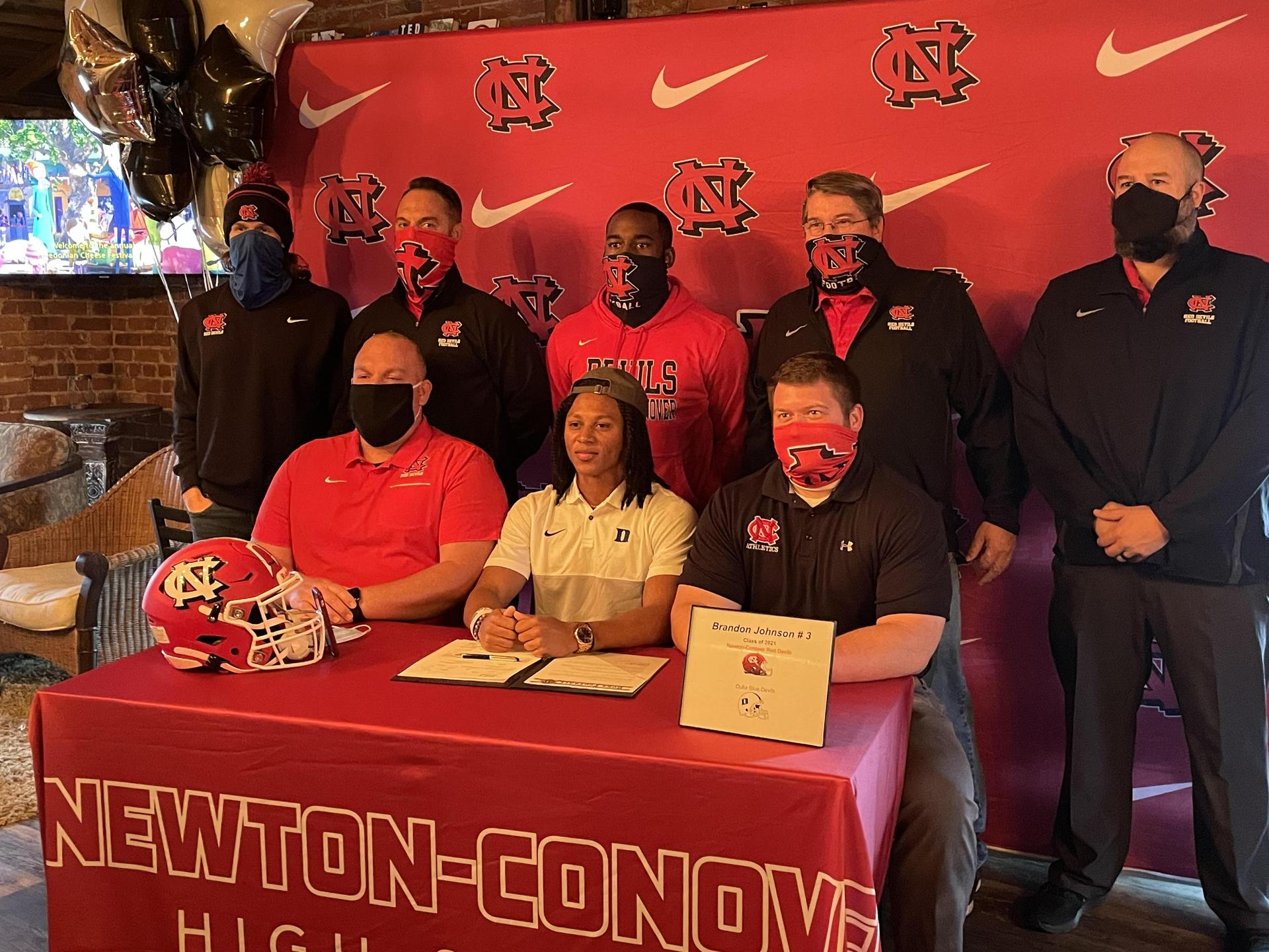 Brandon signs with Duke University supported by coaches