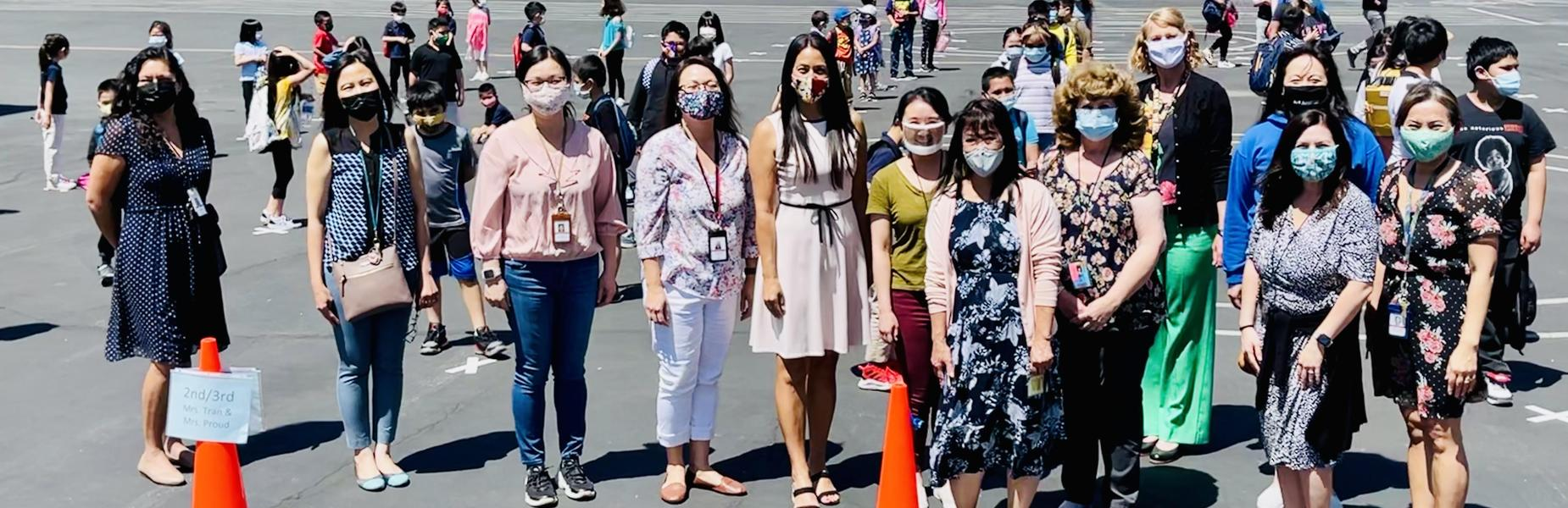 Ramona Staff and Faculty during recess.