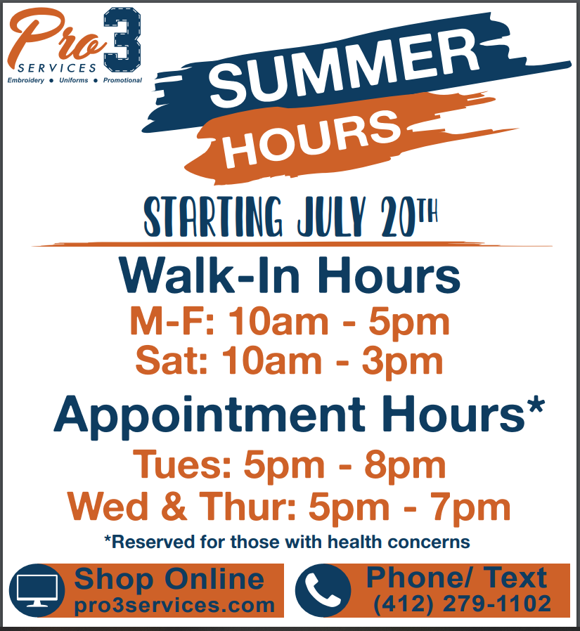 Pro3 Services Summer 2020 Hours