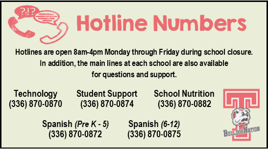 Hotline Numbers to call for help