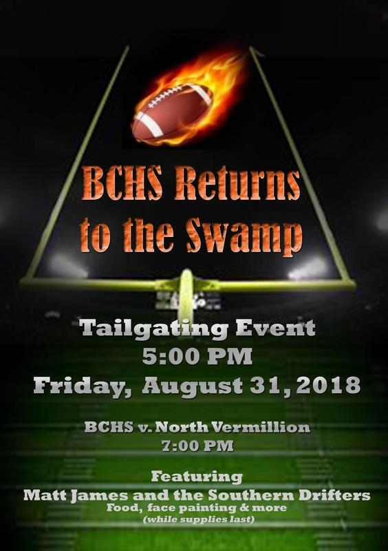 BCHS Football Team return to the Swamp flyer