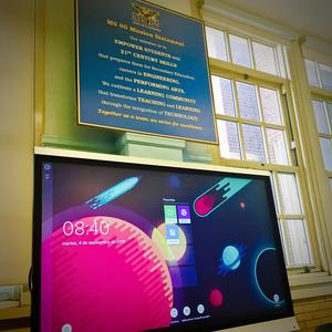 TV screen and mission statement