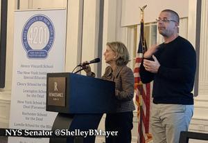 Thanks to NYS Senator @ShelleyBMayer for her support of New York's 4201 Schools! @4201Schools #deafschools