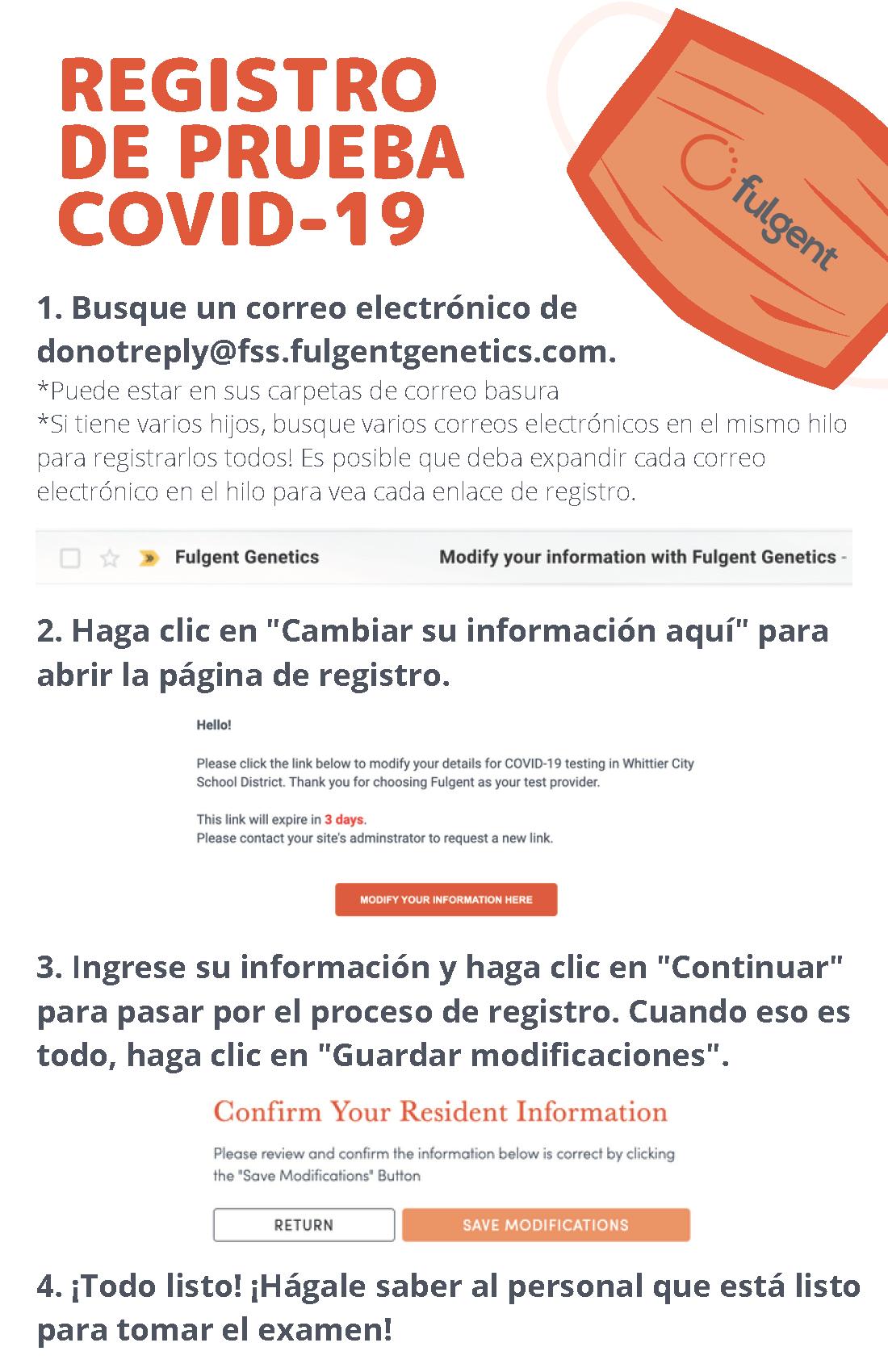 Fulgent Registration Spanish
