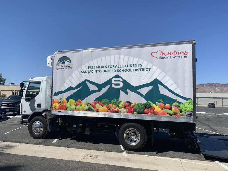SJUSD Nutrition Services delivery truck