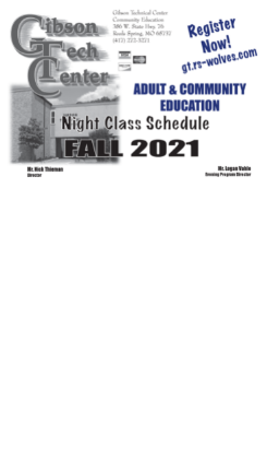 fall evening classes