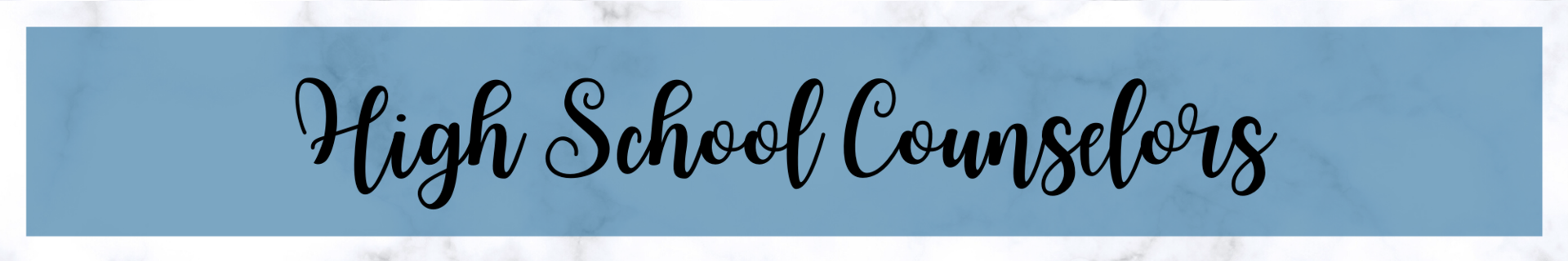 High School Counselor Directory Header