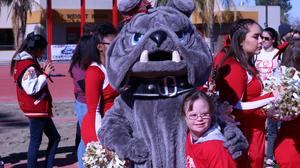 Molly Dean loved Hemet High School's mascot the Bulldog.