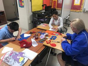 VISD Sped department and students making costumes for nicu babies