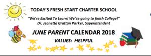 June Calendar Banner