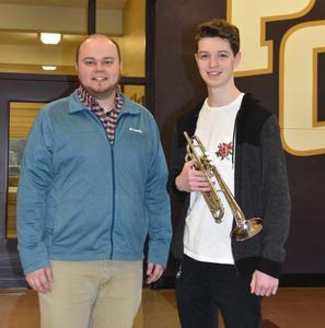 PCS Student and Mr. Ostrand