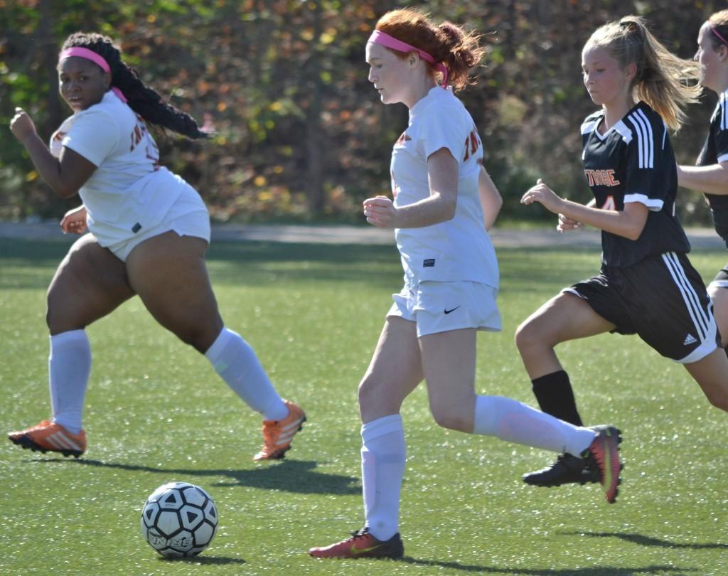 JV Girls' Soccer vs Latrobe - 101417