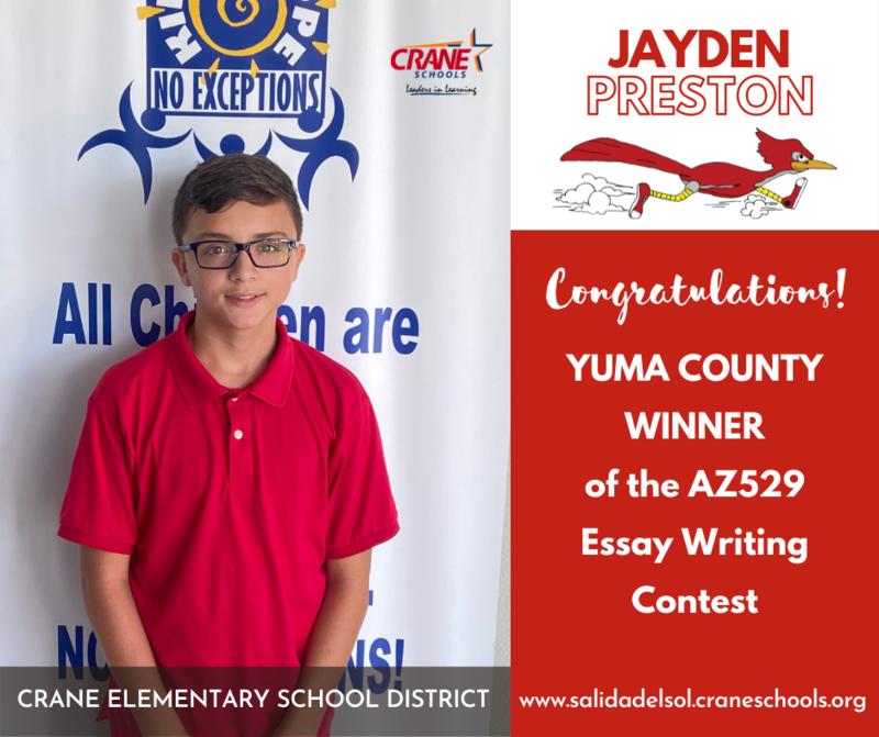 Salida del Sol Fifth Grader Wins Essay Contest Featured Photo